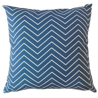 Adelphie Zigzag Throw Pillow Blue