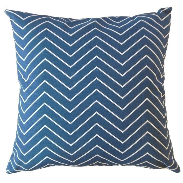 Adelphie Zigzag Throw Pillow Blue