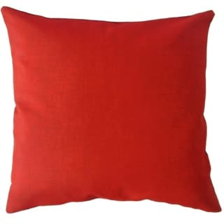 Hamlin Solid Throw Pillow Red
