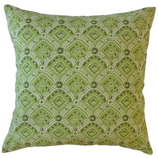 Jarmo Geometric Throw Pillow Greenery