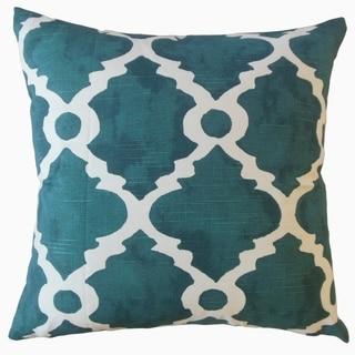 Madrid Geometric Throw Pillow Blue
