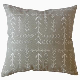 Takako Geometric Throw Pillow Driftwood