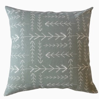 Takako Geometric Throw Pillow Gray
