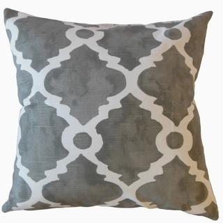 Madrid Geometric Throw Pillow Gray