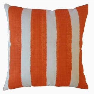 Verity Stripes Throw Pillow Marmalade