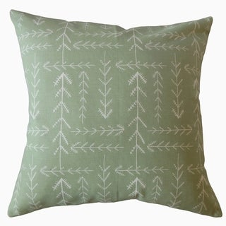 Takako Geometric Throw Pillow Green