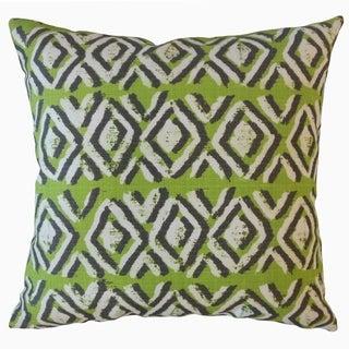 Barbod Ikat Throw Pillow Greenery