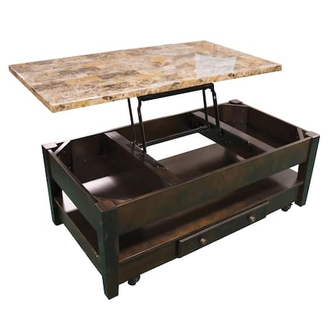 Quinn Traditional Wood Liftop Cocktail Table