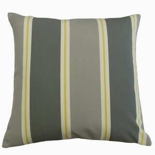 Quiqui Striped Throw Pillow Pewter