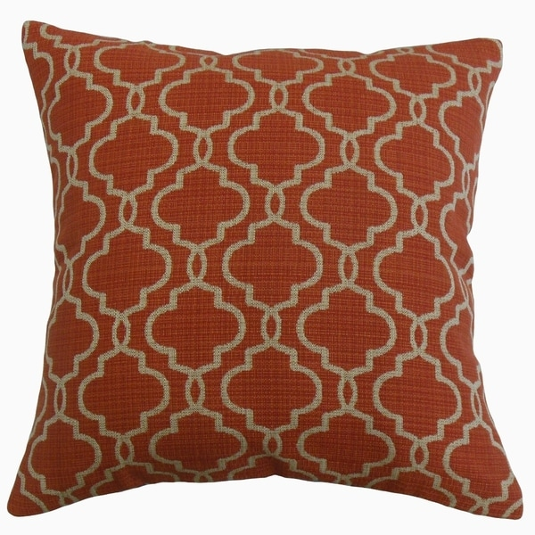 Rauf Geometric Throw Pillow Brick