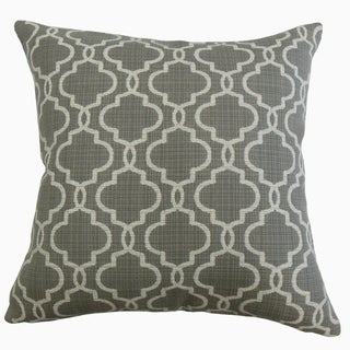 Rauf Geometric Throw Pillow Pewter