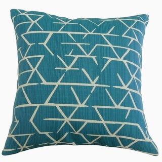 Umatilla Geometric Throw Pillow Turquoise