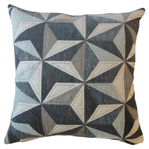 Beale Geometric Throw Pillow Fog