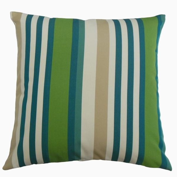 Tamber Striped Throw Pillow Aegean