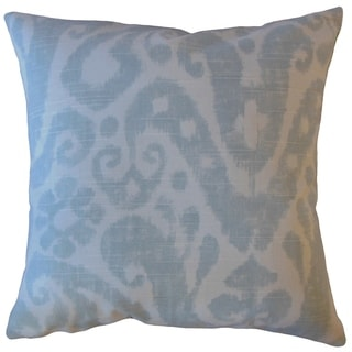 Yaal Ikat Throw Pillow Glacier