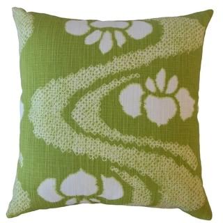 Panchali Ikat Throw Pillow Matcha