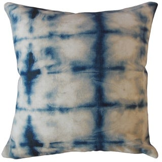 Aaid Ikat Throw Pillow Blue