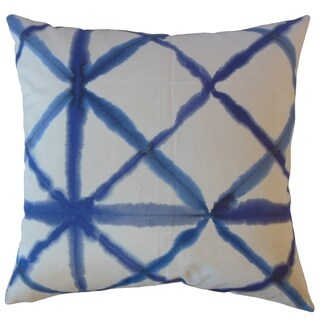 Gadar Ikat Throw Pillow Indigo