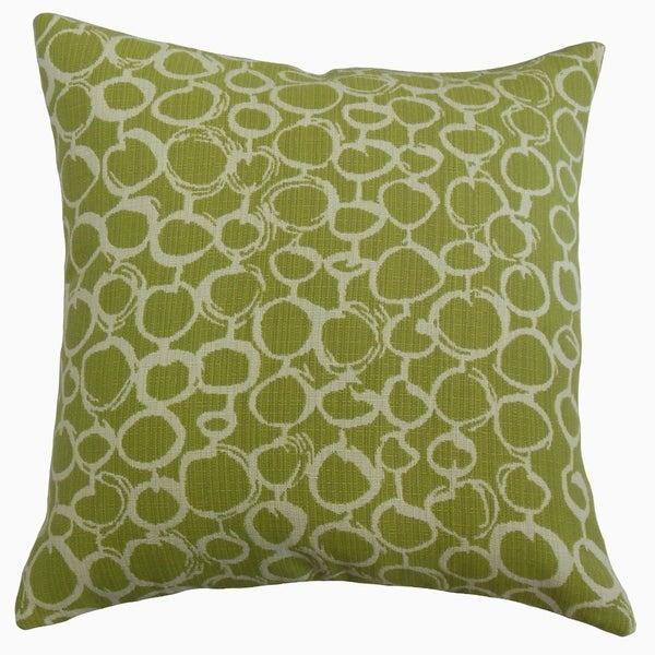 Velisa Geometric Throw Pillow Artichoke