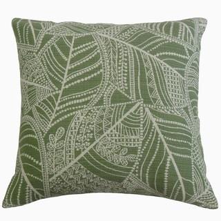 Zandophen Floral Throw Pillow Palm