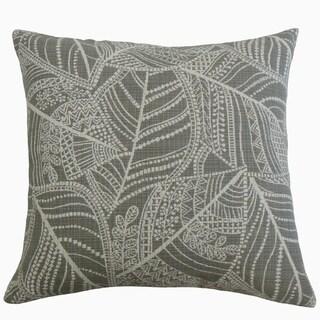 Zandophen Floral Throw Pillow Pewter