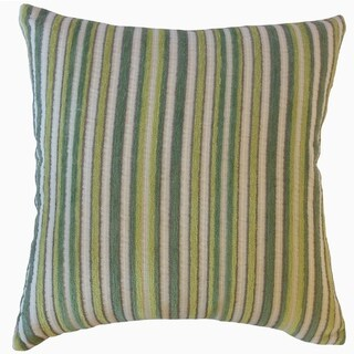 Gauthier Striped Throw Pillow Fern