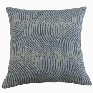 Westry Geometric Throw Pillow Denim
