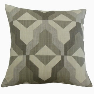 Yardan Geometric Throw Pillow Pewter