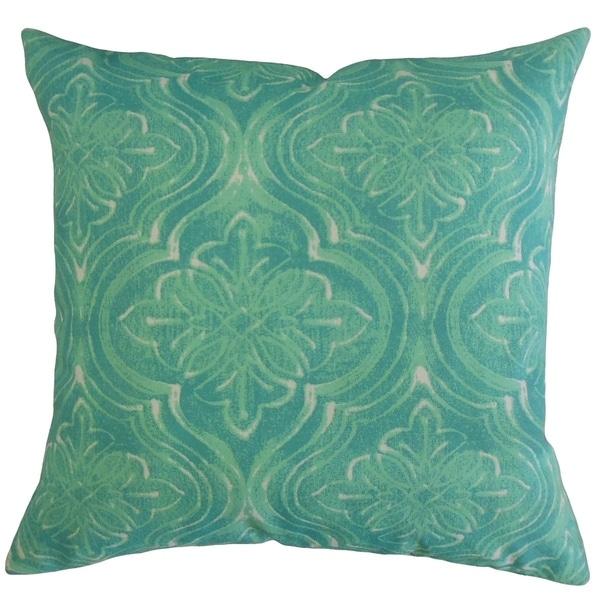 Quilla Damask Throw Pillow Surfside