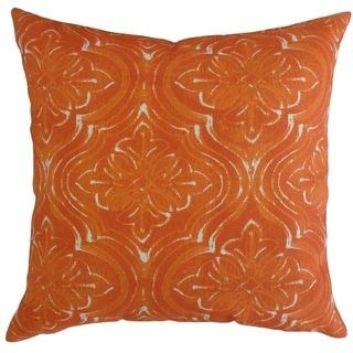 Quilla Damask Throw Pillow Marmalade