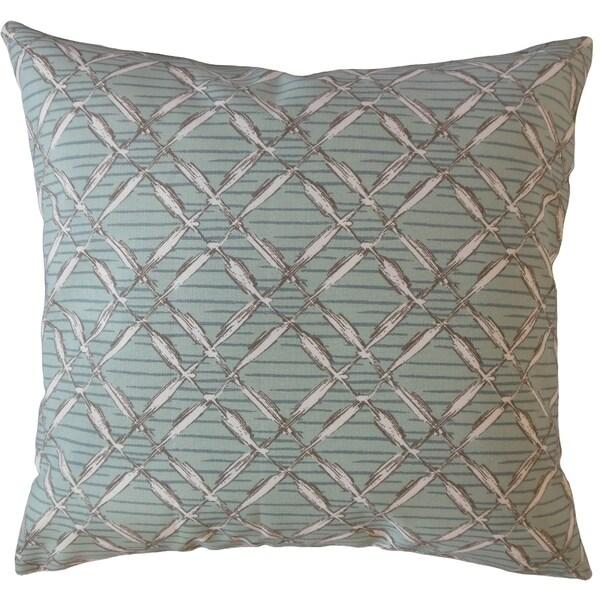 Taisce Geometric Throw Pillow Bluestone
