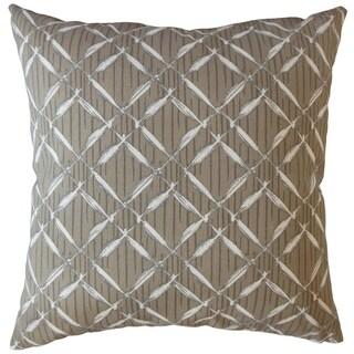 Taisce Geometric Throw Pillow Oyster