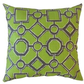 Wenda Geometric Throw Pillow Greenery