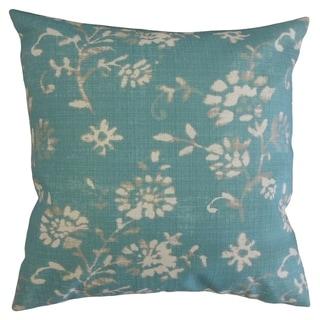 Lalani Floral Throw Pillow Aqua
