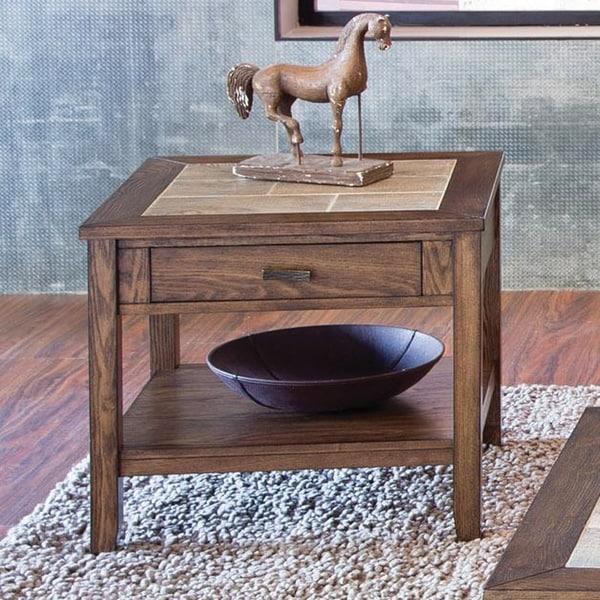 Baron Traditional Wood End Table