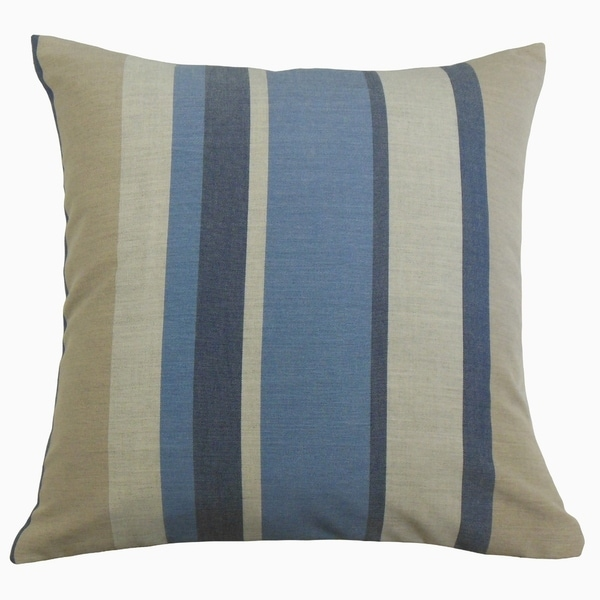 Scotlyn Striped Throw Pillow Denim