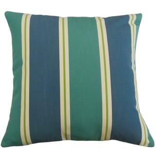 Quiqui Striped Throw Pillow Aegean