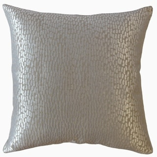 Caius Solid Throw Pillow Silver