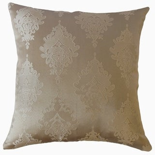 Harding Damask Throw Pillow Buff