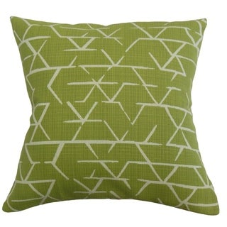 Umatilla Geometric Throw Pillow Artichoke