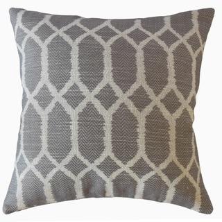 Qadr Geometric Throw Pillow Slate