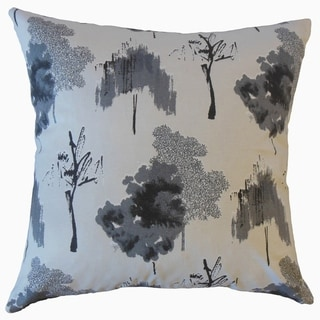 Kaira Ikat Throw Pillow Ink