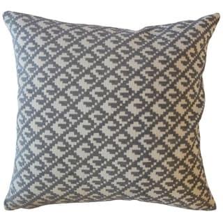 Tadewi Crewel Throw Pillow Pewter