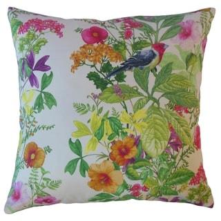 Qismat Floral Throw Pillow Aloha