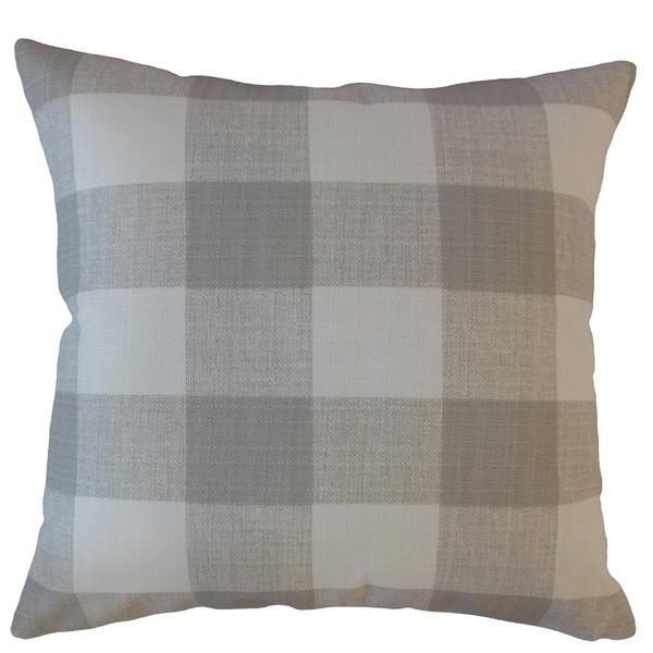 Oormi Plaid Throw Pillow Seasalt