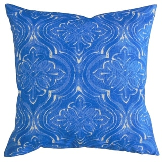 Quilla Damask Throw Pillow Admiral