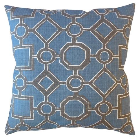 Welda Geometric Throw Pillow Slate Blue