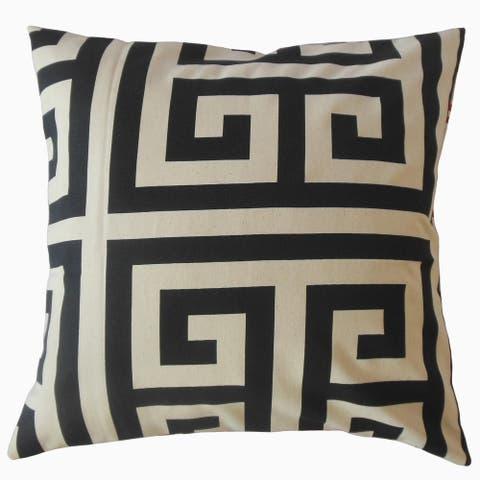 Oliana Geometric Throw Pillow Onyx
