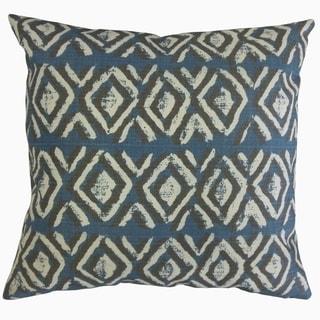 Barbod Ikat Throw Pillow Slate Blue