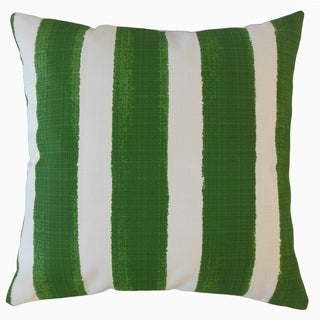 Verity Stripes Throw Pillow Herb